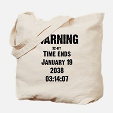 Unix End of Time Tote Bag