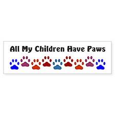 All My Children Have Paws 7 Car Sticker