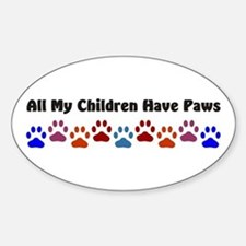 All My Children Have Paws 7 Decal