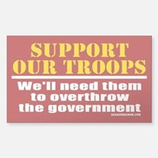 Support Our Troops Sticker (Rectangle)