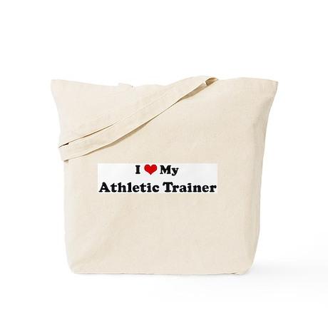 I Love Athletic Trainer Tote Bag
