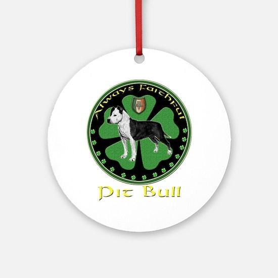 always faithful pit bull amstaff Ornament (Round)