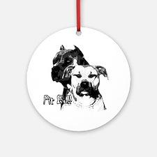 2 pit bulls Ornament (Round)