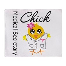 Medical Secretary Chick Throw Blanket