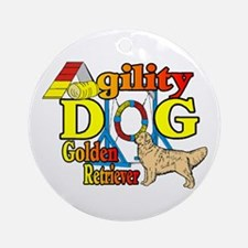 Golden Retriever Agility Ornament (Round)