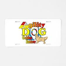 Golden Retriever Agility Aluminum License Plate