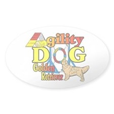 Golden Retriever Agility Decal