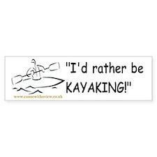"""I'd rather be KAYAKING!"" Car Sticker"