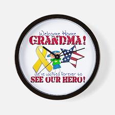 Welcome Home Grandma Wall Clock