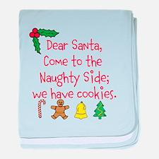 Naughty Side has Cookies baby blanket