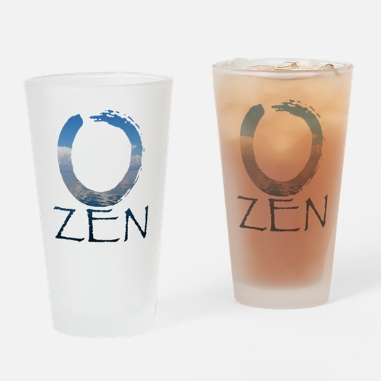 Cute Zen and yoga Drinking Glass