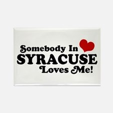 Somebody In Syracuse Loves Me Rectangle Magnet