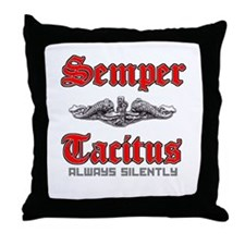Semper Tacitus Throw Pillow