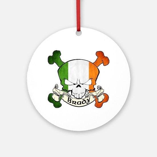 Brady Skull Ornament (Round)
