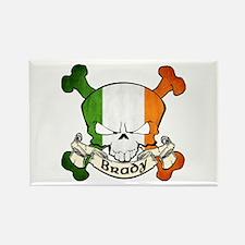 Brady Skull Rectangle Magnet
