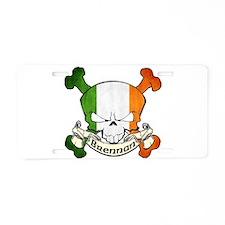 Brennan Skull Aluminum License Plate