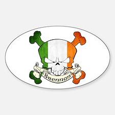 Brennan Skull Sticker (Oval)