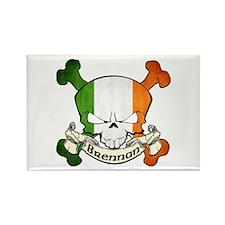 Brennan Skull Rectangle Magnet