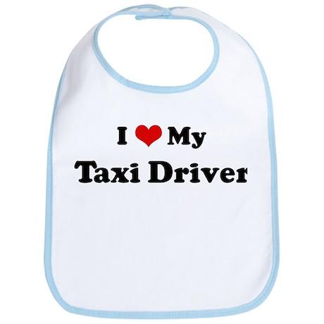 I Love Taxi Driver Bib