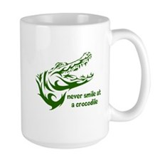 Never Smile (green) Mug