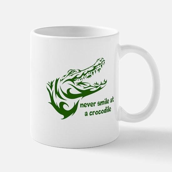 Never Smile (green) Mug