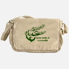 Never Smile (green) Messenger Bag