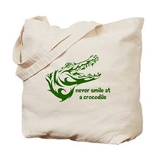 Never Smile (green) Tote Bag