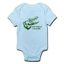 Never Smile (green) Infant Bodysuit