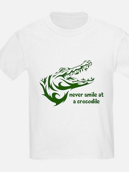 Never Smile (green) T-Shirt