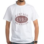 1912 Vintage (Red) White T-Shirt