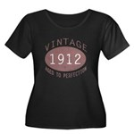 1912 Vintage (Red) Women's Plus Size Scoop Neck Da
