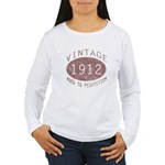 1912 Vintage (Red) Women's Long Sleeve T-Shirt