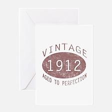 1912 Vintage (Red) Greeting Card