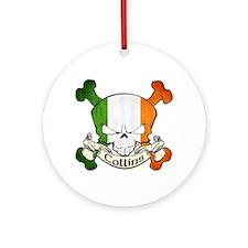 Collins Skull Ornament (Round)