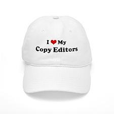 I Love Copy Editors Baseball Cap