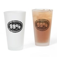 Vintage 99% [o] Drinking Glass