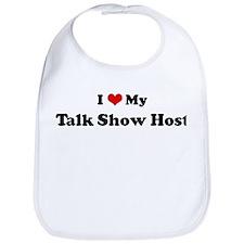 I Love Talk Show Host Bib
