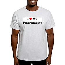 I Love Pharmacist Ash Grey T-Shirt