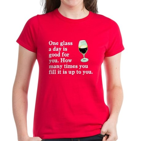 A Glass A Day Women's Dark T-Shirt