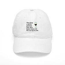 A Glass A Day Baseball Cap