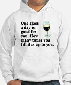 A Glass A Day Hoodie