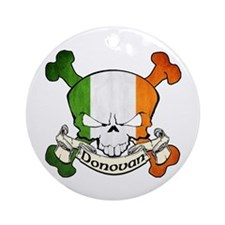 Donovan Skull Ornament (Round)