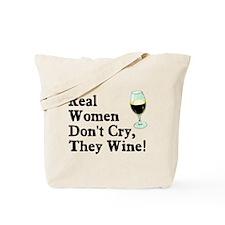 Real Women Wine Tote Bag