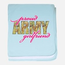 Funny Army sweetheart baby blanket