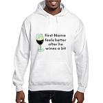 Personalized Wine Gift Hooded Sweatshirt