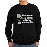 Personalized Wine Gift Sweatshirt (dark)