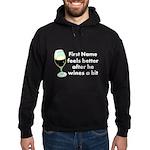 Personalized Wine Gift Hoodie (dark)