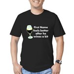 Personalized Wine Gift Men's Fitted T-Shirt (dark)