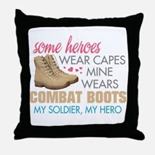 Unique I love my soldier Throw Pillow