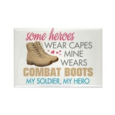 Cool Combat boots Rectangle Magnet